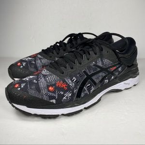 ASICS GEL KAYANO 24 NYC Black Running Shoes T7J4N